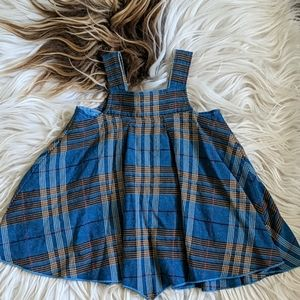 Burberry blue plaid wool blend dress 6M